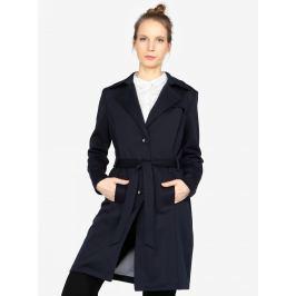 Tmavě modrý dámský kabát s.Oliver Dámské bundy a kabáty