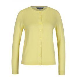 Žlutý dámský krátký kardigan Tom Joule  Dámské svetry, roláky a pulovry