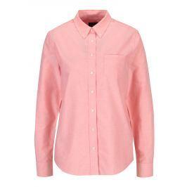 Světle růžová dámská košile s náprsní kapsou GANT Dámské halenky a košile