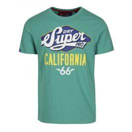 Zelené tričko s potiskem  a krátkým rukávem Superdry Classic Pánská trička