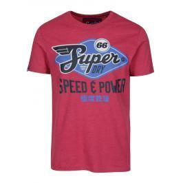 Růžové tričko s potiskem Superdry Classic Pánská trička