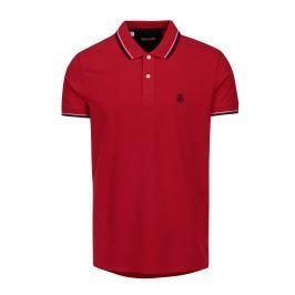 Červené polo tričko s výšivkou Selected Homme Newseason Pánská trička