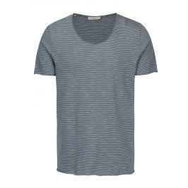 Modré pruhované tričko Selected Homme Newmerce Pánská trička