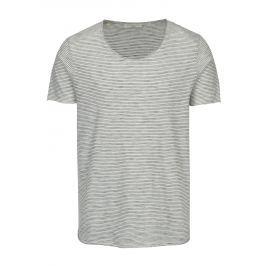 Krémové pruhované tričko Selected Homme Newmerce Pánská trička