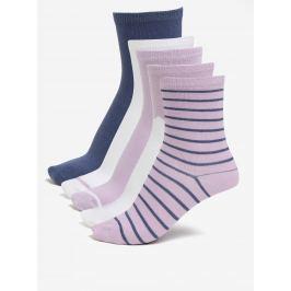 Sada pěti párů holčičích ponožek ve starorůžové barvě name it Vilde  Dětské ponožky