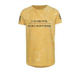 Žluté klučičí tričko s potiskem name it Havis  Trička a košile