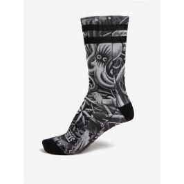 Šedo-černé unisex vzorované ponožky American Socks  Pánské ponožky