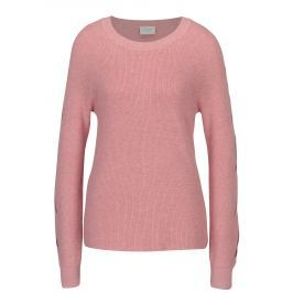 Růžový svetr s průstřihy na rukávech VILA Myntani  Dámské svetry, roláky a pulovry
