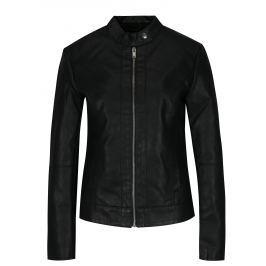 Černá koženková bunda Jacqueline de Yong Dallas Dámské bundy a kabáty