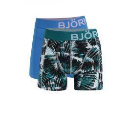 Sada dvou boxerek v modré a zelené barvě Björn Borg  Boxerky, tanga, slipy