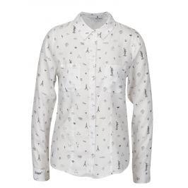 Bílá vzorovaná košile TALLY WEiJL Dámské halenky a košile