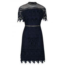 Tmavě modré krajkové šaty Chi Chi London Sassi Dámské šaty