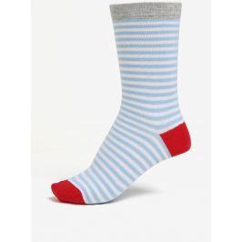 Modro-bílé dámské pruhované ponožky ZOOT Dámské ponožky