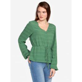 Tmavě zelená halenka VERO MODA Sophia Dámské halenky a košile