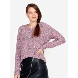 Růžový žíhaný svetr VERO MODA Abria Dámské svetry, roláky a pulovry