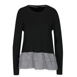 Černý lehký svetr ONLY Gingham Dámské svetry, roláky a pulovry