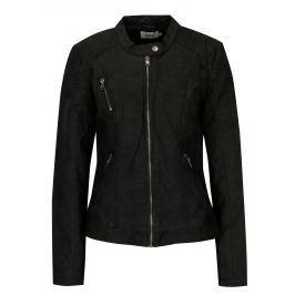 Černá koženková bunda ONLY Steady Dámské bundy a kabáty
