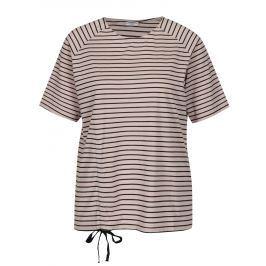 Starorůžové pruhované tričko Jacqueline de Yong Buzz Dámská trička