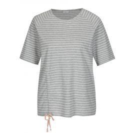 Světle šedé pruhované tričko Jacqueline de Yong Buzz Dámská trička