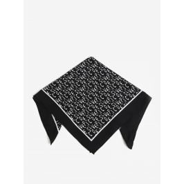Černý vzorovaný šátek Pieces Mia Šály