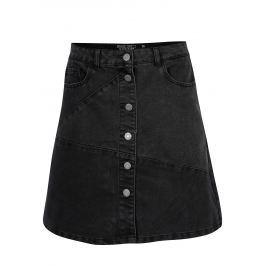 Černá džínová sukně s knoflíky Noisy May Sunny Dámské sukně