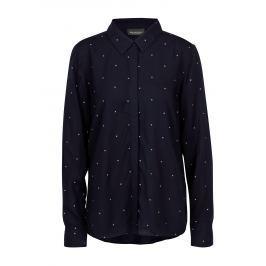 Tmavě modrá vzorovaná dámská košile Broadway Ailien Dámské halenky a košile