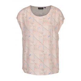 Světle růžová vzorovaná dámská halenka Broadway Cirie Dámské halenky a košile