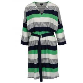 Zelené pruhované dámské šaty s páskem Broadway Audry Dámské šaty