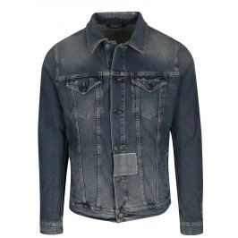 Modrá džínová bunda s potrhaným efektem Selected Homme Jeppe Pánské bundy a kabáty