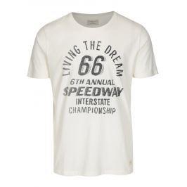 Krémové tričko s potiskem Selected Homme Mike Pánská trička