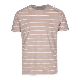 Starorůžové pruhované tričko Selected Homme Max Pánská trička
