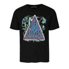 Černé tričko s potiskem ONLY & SONS Def Leppard Pánská trička
