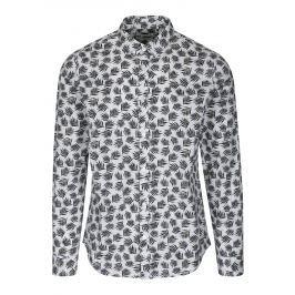 Černo-bílá vzorovaná slim fit košile ONLY & SONS Torres Pánské košile