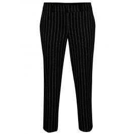 Černé zkrácené vzorované kalhoty Dorothy Perkins  Dámské kalhoty
