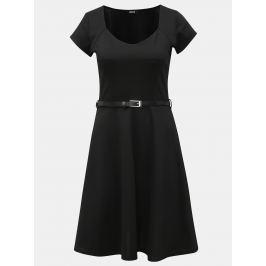 Černé šaty s páskem ZOOT Dámské šaty