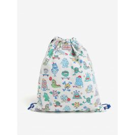 Modro-krémový dětský oboustranný vak s potiskem Cath Kidston Školní batohy