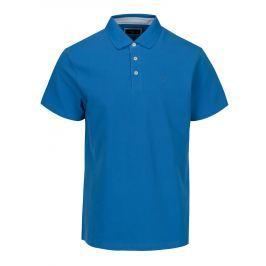 Modré slim fit polo tričko s výšivkou Hackett London Swim Pánská trička