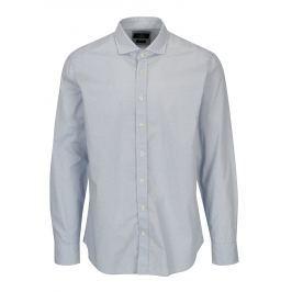Bílo-modrá vzorovaná formální slim fit košile Hackett London Pánské košile