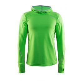 Pánská funkční mikina CRAFT Mind Hood zelená Spodní prádlo