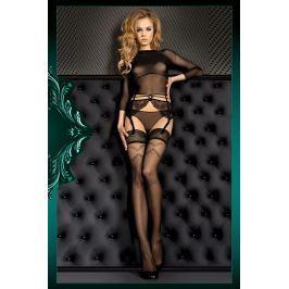 Luxusní samodržící punčochy Smeraldo 390 Spodní prádlo