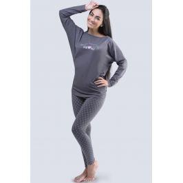 Dámské pyžamo s netopýřími rukávy Lady šedé