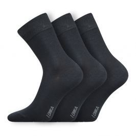 3pack bambusových ponožek Debob tmavěšedé