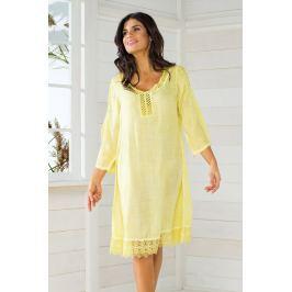 Dámské plážové šaty italské značky Iconique IC8057 Yellow