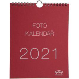 Kalendář na vlastní foto MALIČKÝ 2021 červený