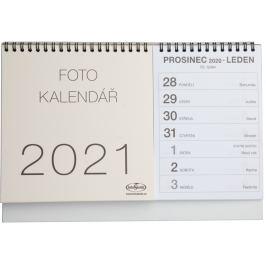 Kalendář na vlastní foto STOLNÍ 2021 béžový