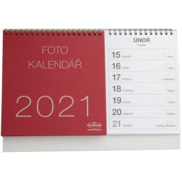 Kalendář na vlastní foto STOLNÍ 2021 červený